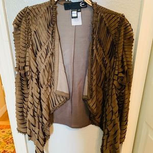 Cavalli high low leather jacket GUC